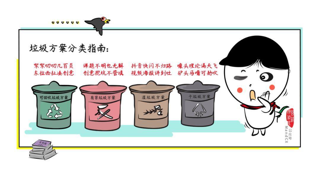 你的方案是什么垃圾?垃圾方案分类指南